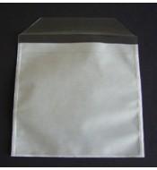 Funda CD PP, adhesiva en toda su superficie, con tapa